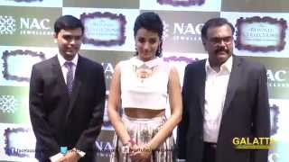 Trisha launches NAC Jewellers 'Rewind Collection' at Mylapore