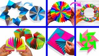 6 крутых АНТИСТРЕСС ИГРУШЕК из бумаги /ОРИГАМИ / 6 DIY TOYS made of paper / Curlicue Kinetic Origami