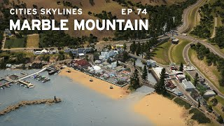 Beach Town and Amusement Park | Cities Skylines: Marble Mountain 74 | ft. Citywokcitywall