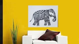 Zentangle Art / Doodle Art / Elephant Doodle Art / How To Draw Zentangle Animal Art