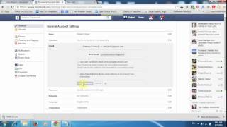 "How to change your ""Email Address (Primary Email)"" in Facebook 2015"