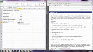 Confidence Intervals for Proportions Excel