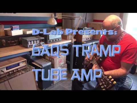 D-lab 6AQ5 Tramp Amp Guitar tube boutique practice amplifier vintage technology