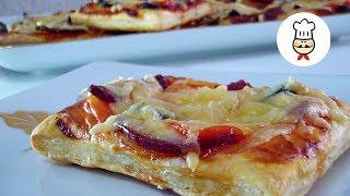 Мини Пицца в духовке / Приготовление пиццы на слоеном тесте - быстрый рецепт / Волшебная еда