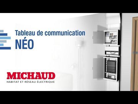 Tableau de communication NÉO Grd2TV - 8 RJ45 DTI + Filtre TV 4S