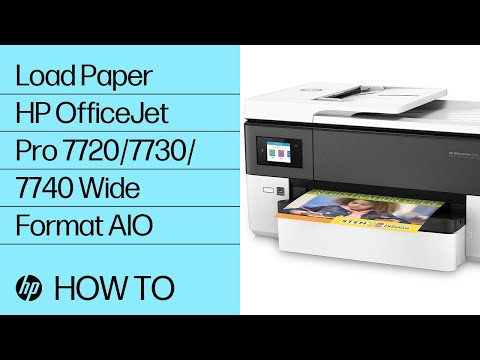 Loading Paper | HP OfficeJet Pro 7720/7730/7740 Wide Format AIO Printers | HP