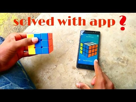 Solve rubic  cube with mobile app/solve robic cube