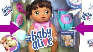 🎁 Unboxing Baby Alive BABY GO BYE-BYE! 👶🏽 Review Of Hasbro's Brunette Baby Alive  Baby Go Bye-Bye