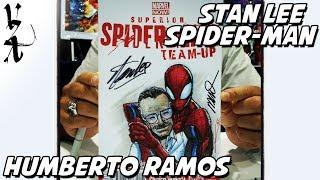 #ArtRush - Humberto Ramos Drawing Stan Lee And Spider-Man