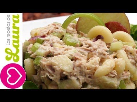 Ensalada de Atún con manzana y Coditos♥Tuna Apple Salad for the Super Bowl!♥