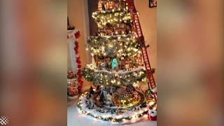 Incredible Christmas Tree Decorations With Tiny Village Inside | Decoration Ideas 2019