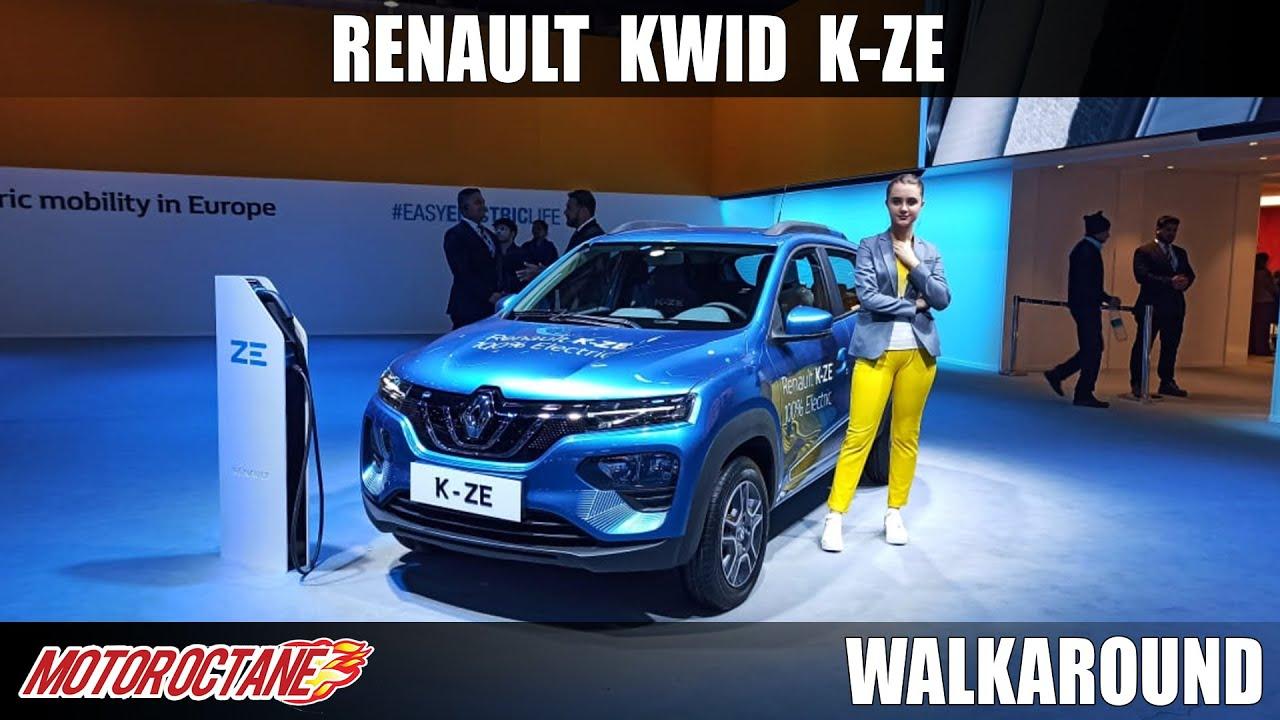 Motoroctane Youtube Video - Renault Kwid K-ZE - Electric and Affordable   Auto Expo 2020   Hindi   Motoroctane