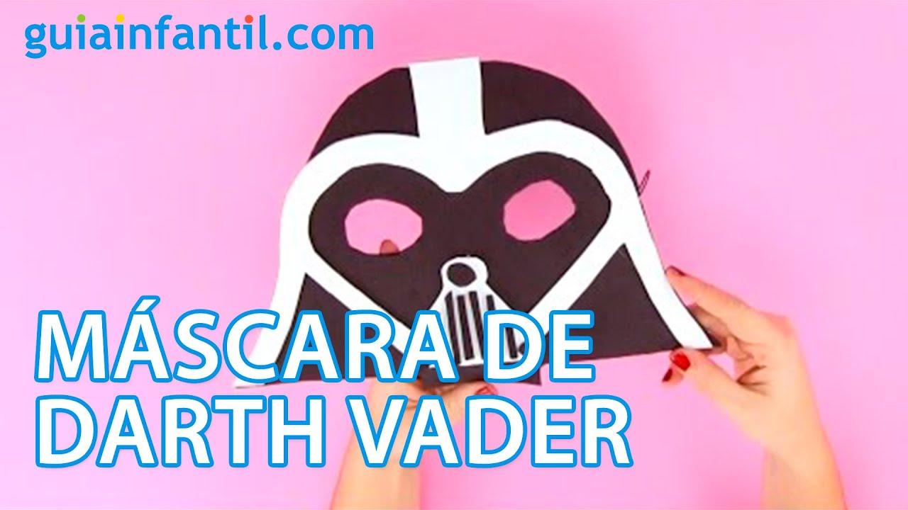 Cómo hacer una máscara de Darth Vader paso a paso | Manualidades infantiles