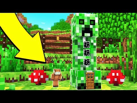 HOW TO LIVE INSIDE A CREEPER IN MINECRAFT!