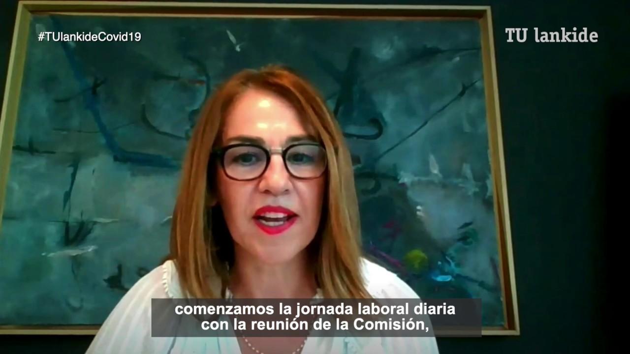 """""""En Laboral Kutxa, la prioridad ahora es la salud y la seguridad de empleados y clientes"""" Nuria Agirre, Unzueta, directora de Gestión Social."""