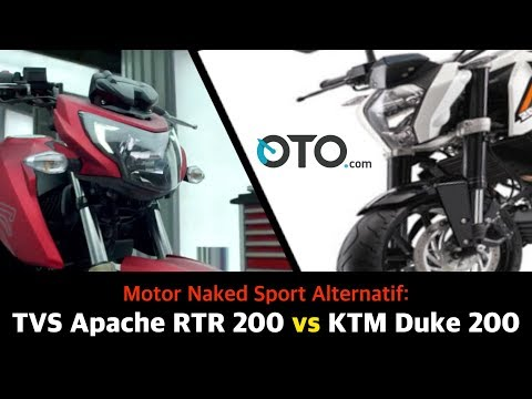 Motor Naked Sport Alternatif: TVS Apache RTR 200 vs KTM Duke 200 I OTO.com