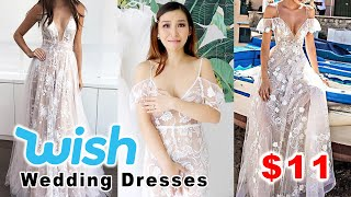 Trying on Cheap Wedding Dresses from Wish - 👍🏻 or 👎🏻
