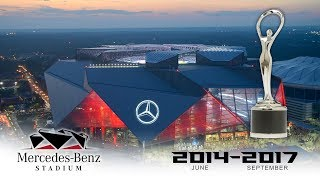 EarthCam's Construction Time-Lapse of Mercedes-Benz Stadium, Site of Super Bowl LIII