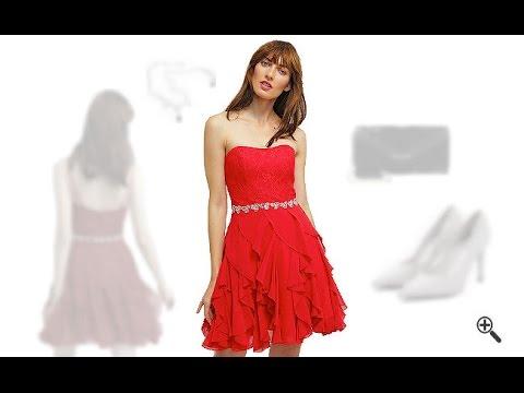 Kurze Kleider Trägerlos in Rot + 3 Party Outfit Ideen für Sisi