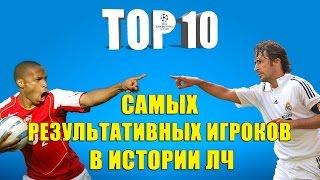 ТОП 10 самых результативных игроков в истории ЛЧ