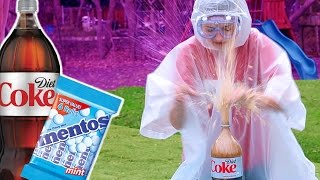 DIET COKE vs MENTOS CHALLENGE FAIL | Kamri Noel