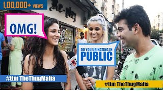 Mumbai people on public urination  Hilarious street interview I hot girls funny comedy Indian pranks