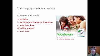 VOCABULARY: HOW TO INTRODUCE NEW WORDS