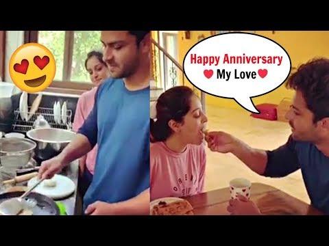 Dipika Kakar Husband Shoaib Ibrahim Cooks For Her On Their First Wedding Anniversary ♥