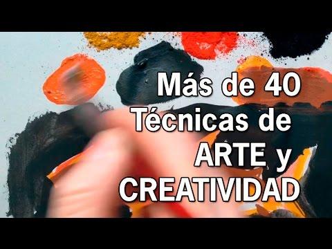 Más de 40 técnicas de Arte y Creatividad. Dibujo y Pintura. Curso online.