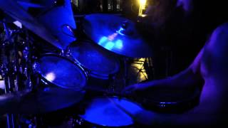 3 Inches of Blood - Dark Messenger - Drum Cam - Calgary, July 13th, 2012