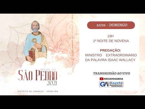 1ª noite de novena da festa de São Pedro do Córrego 2021 em Apodi