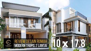 Video Desain Rumah Modern 2 Lantai Ibu Rina di  Bogor, Jawa Barat