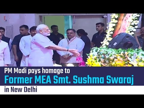 PM Modi pays homage to former MEA Smt. Sushma Swaraj at