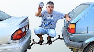 EXPERIMENT - DA LI LEPLJIVOM TRAKOM MOZE DA SE SLEPA AUTO?