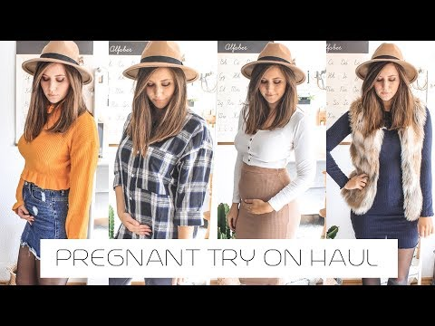 Pregnant Try On Haul
