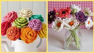 DIY Elegant Handmade Flowers For Vases,Crochet Flowers Patterns Easy To Make