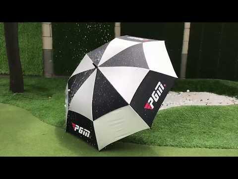 PGM Golfschirm Automatik 134cm Regen UV Schutz Double Layer