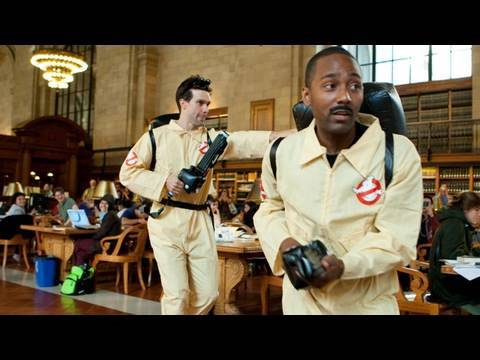 The Ghostbusters Return To The New York Public Library