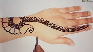 New Easy Arabic Mehndi Design For Hands | Latest Henna Mehendi Design | Rakhi Special Mehndi