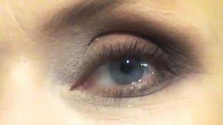 Макияж глаз в коричневых оттенках для дам в возрасте, видео-инструкция