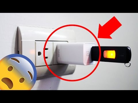 MIRA LO QUE PASA CUANDO CONECTAS UNA USB A LA LUZ!!  ( ಠ_ಠ)!!