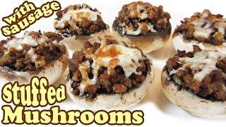 Sausage Stuffed Mushrooms Recipes – Stuffed Mushroom Recipe – Horderves Easy Appetizers -HomeyCircle