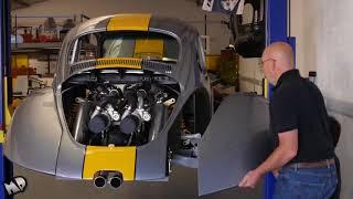 Volkswagen VW Beetle Bug V8 Biturbo Built Vocho Fusca Kafer Overhaulin Full HD