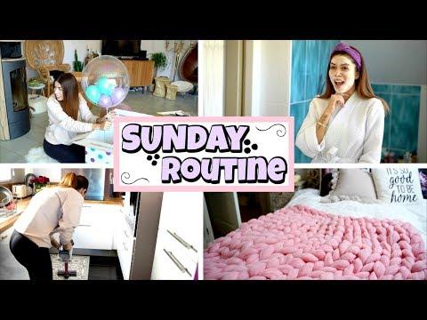 Sunday Morning Routine 🛁🍕