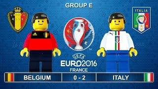Euro 2016 - Belgium vs Italy 0-2 Lego Football Goals and Highlights ( Belgio - Italia )