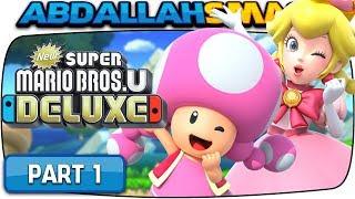 New Super Mario Bros U Deluxe - Acorn Plains 100% Walkthrough Part 1 (Nintendo Switch)
