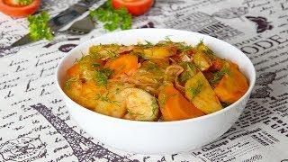 Овощное рагу с картошкой, кабачками и капустой