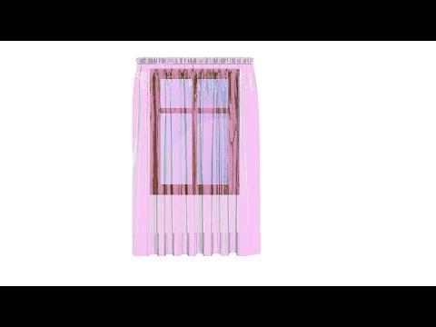 Gardinen Schal kürzen. Anleitung  für Anfänger