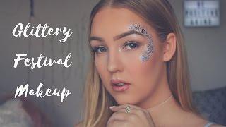Glittery Festival Makeup   Drugstore Based  