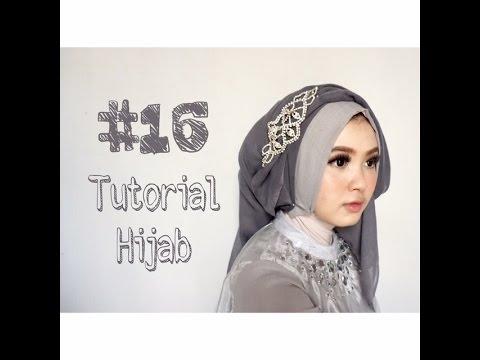 Video #16 Tutorial Hijab Segi Empat Paris Rawis Wisuda Pesta Kondangan Simple by @olinyolina